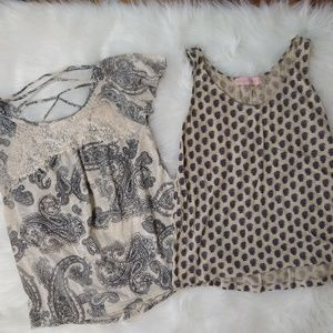 Set 2 womens summer shirts Small cute